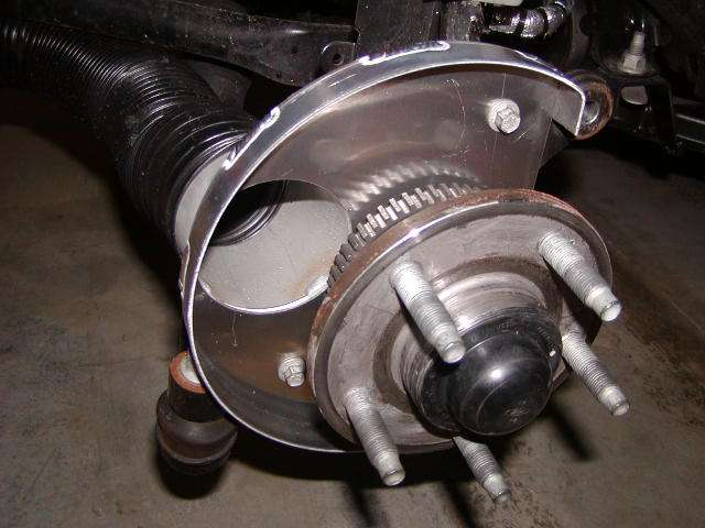 Front brake cooling ducts are finally done